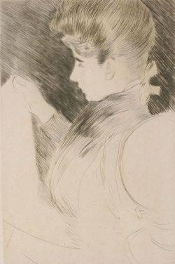 Paul Cesar Helleu French 18591927 Lot of Two Prints Including