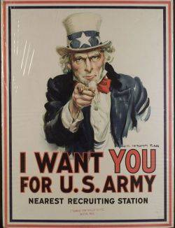 James Montgomery Flagg American 18771960 I Want You for US Army