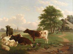 Thomas Hewes Hinckley American 18131896 Cows at Pasture
