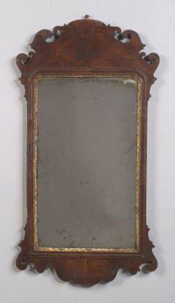 Chippendale Walnut and Parcelgilt Mirror