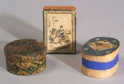 Three Small PaperCovered Trinket Boxes
