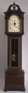 E Howard  Co Georgianstyle Mahogany Tall Case Clock
