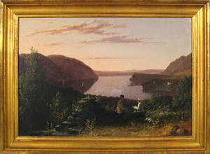 Hudson River oil on canvas landscape 19th c