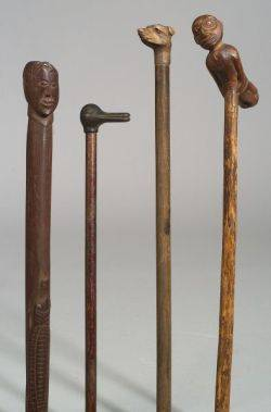 Four Folk Art Canes