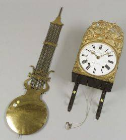 French Giltmetal Mobilier WagontheWall Clock