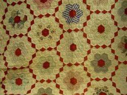 Pieced Cotton Flower Garden Quilt
