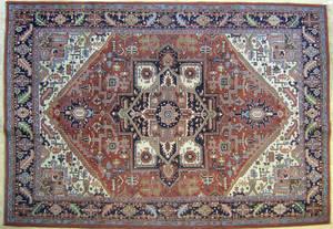 Roomsize Heriz rug
