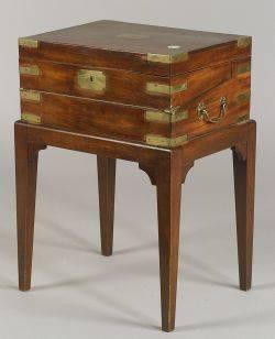 Mahogany BrassBound Lap Desk on Stand