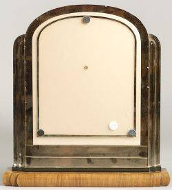Art Deco Walnut and Mirrored Glass Vanity Picture Frame