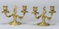 Pair of Louis XVstyle Gilt Bronze Twolight Dwarf Candelabra