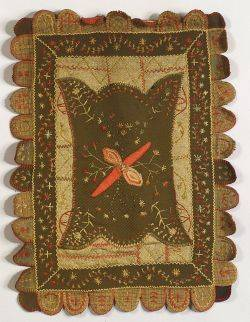 Continental Wool and Embroidery RugWall Hanging