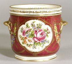 Sevresstyle Painted Porcelain Cache Pot