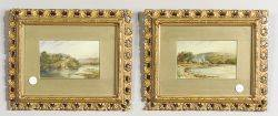 Pair of Scottish Landscape Paintings on Porcelain