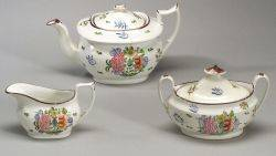 Extensive Assembled Newhall Porcelain Tea Service