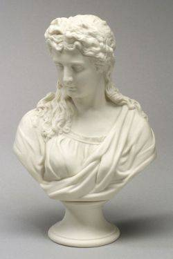 English Parian Bust of a Classical Woman