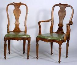 Set of Twelve Louis XVI Style Beechwood Dining Chairs
