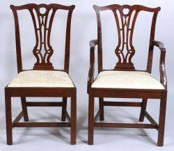 Set of Ten George III Style Mahogany Dining Chairs