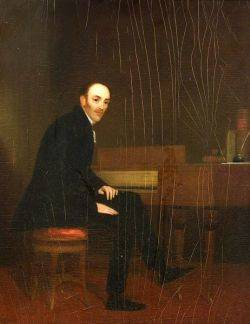 Manner of George Chinnery British 17741852 Portrait of a Composer