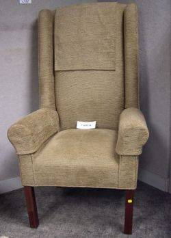 Pair of Contemporary Georgianstyle Upholstered Highback Easy Chairs