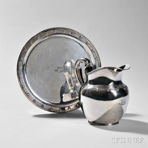 Tiffany  Co Sterling Silver Pitcher and Tray