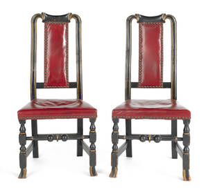 Pair of Boston Queen Anne maple dining chairs ca 1740