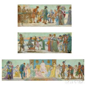 Charles Yardley Turner American 18501919 The Triumph of Manhattan A Mural Study in Three Parts