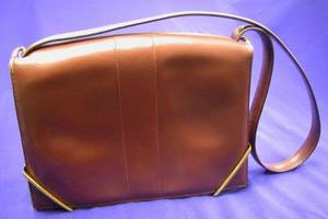 Vintage Burgundy Leather Handbag Hermes