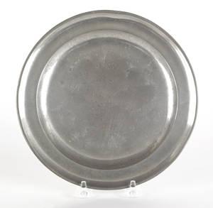 Boston Massachusetts pewter plate ca 1800