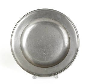 English pewter charger ca 1800