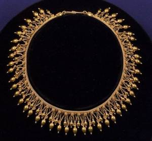 NeoGrec High Karat Gold and Enamel Necklace