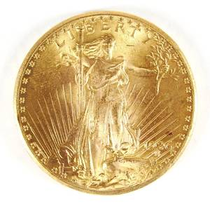 US 1926 P 20 gold St Gaudens coin