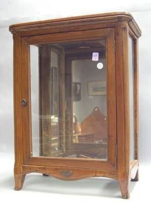 Small French Provincial Rococostyle Fruitwood Vitrine Cabinet
