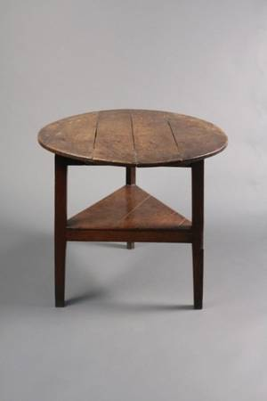 English George III Oak Cricket Table