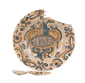 Continental faience charger
