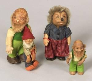 Four Steiff Figures