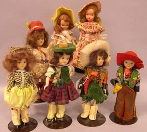 Seven Small Dolls