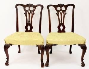 George II Style Mahogany Side Chairs