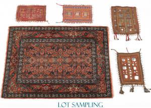 Chinese oriental rug and small Hamadan mat