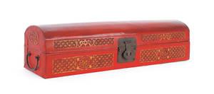 Chinese painted scroll case