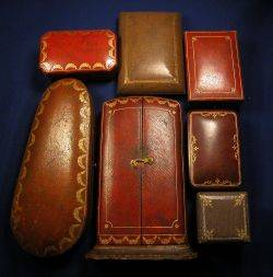 Group of Seven Antique Jewelry Boxes