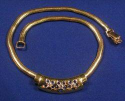 Retro 14kt Gold and Gemset Necklace