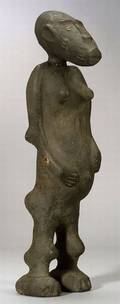 African Clay Female Figure