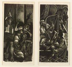 Fritz Eichenberg GermanAmerican 19011970 Lot of Two Old Testament Scenes Sampson  Delilah