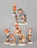 Seven Goebel figurines