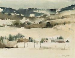 Paul Starett Sample American 18961974 Hillside Farm