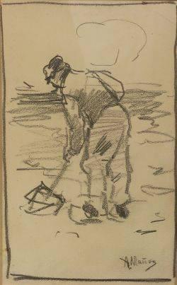 Anton Mauve Dutch 18381888 Figure Sketch
