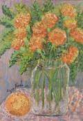 Rifka Angel RussianAmerican b 1899 Bouquet of Autumn Flowers
