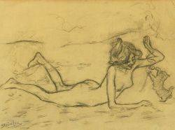 Attributed to Theophile Alexandre Steinlen SwissFrench 18591923 Ribbons