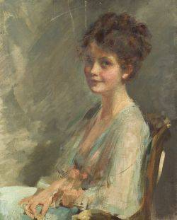 Emil Fuchs American 18661929 Portrait of a Young Woman