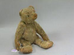 Early Blonde Mohair Teddy Bear